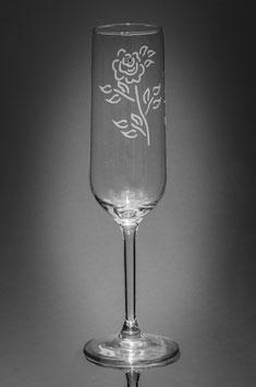 Sektglas - individuell von Hand geätzt