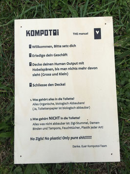 Bedienungsanleitung für Komposttoiletten (Holz)