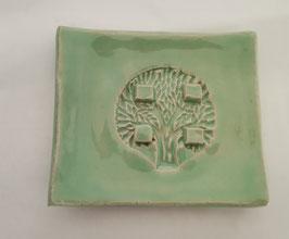 Seifenschalen rechteckig hellgrün lackiert