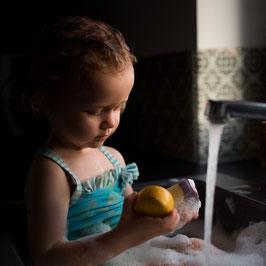 Kids-Set: Haar & Duschbarren + Einhornseife Lavendel