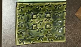Seifenschale dunkles grün lackiert