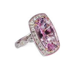 Handmade 8.87ct Pink Topaz ring - Largest known pink topaz available on the Australian market