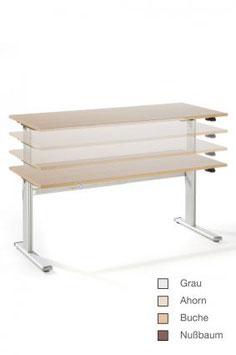 Höhenverstellbarer Schreibtisch 180x80 cm