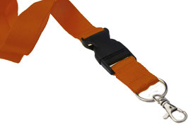 20/25MM LANYARD MIT PLASTIK-SNAP . ORANGE [VE150]