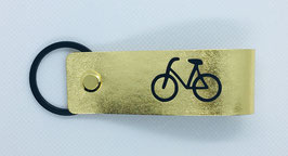 "Schlüsselhelfer  GOLD ""Fahrrad"