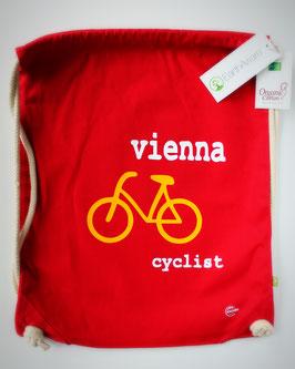Turnbeutel/Rucksack (rot): Fahrrad - Vienna - Cyclist