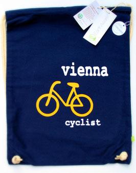 Turnbeutel/Rucksack (marin): Fahrrad - Vienna - Cyclist