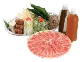 名物沖縄の宝 アグー豚のお出汁で食べる豚しゃぶセット