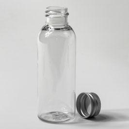 Mehrwegflaschen Flasche PET 50 ml inklusive Alu Schraubkappen für Lebensmitteln Desinfektionsmittel Kosmetik MehrwegflaschenD=20 mm