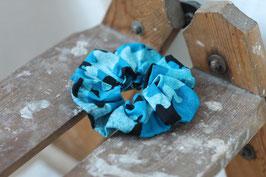Haargummi Batik blau-schwarz