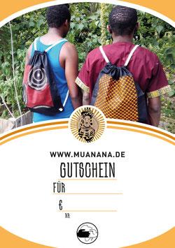 Gutschein für den MUANANA-Onlineshop über 15 €
