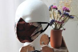 Mundbedeckung/Behelfsmaske braune Batik