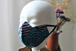 Mundbedeckung/Behelfsmaske blaue Batik