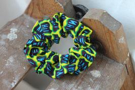 Haargummi Kieselsteine blau-gelb