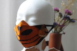 Mundbedeckung/Behelfsmaske orange Batik