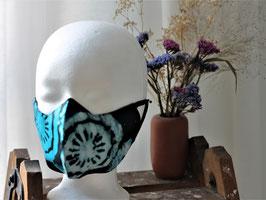 Mundbedeckung/Behelfsmaske blaues Obst