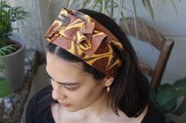 Haarband in braun-schwarzen Erdtönen