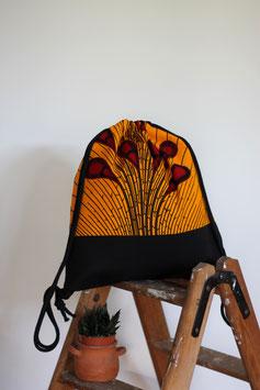 Rucksack 'Feuerwerk' gelb-rot