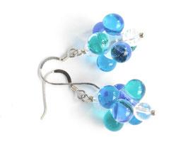 Ohrhänger Tautropfen Türkis-Blau
