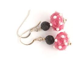 Ohrhänger Venezia pink und zartrosa, mit Lava