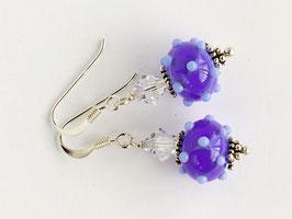 Ohrhänger Venezia blau, mit Glasschliff-Kristallen