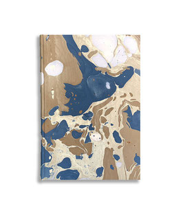 Marbled paper notebook - sketchbook Sonia