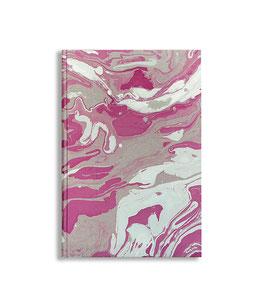 Marbled paper notebook - sketchbook Violetta