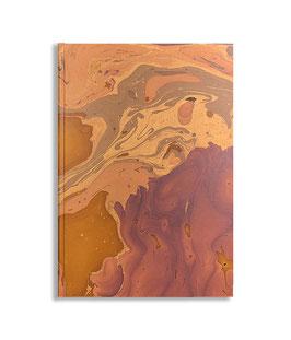 Marbled paper notebook - sketchbook Bruno
