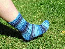 Socken Blau Gr.38/39 mit Bumerangferse