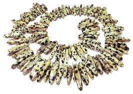 Dalmatiner Jaspis Stab-Nuggets / lange Splitter ca. 12-25 mm - Strang