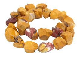 Mookait naturbelassene Nuggets ca. 15-20 mm - Strang