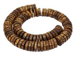 Hagalpalmholz 15 mm Heishi Perlen große Scheiben Holzperlen Palmholz
