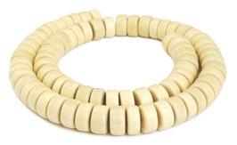 Ambaba-Weißholz Räder ca. 11x4-6 mm Holzperlen - Strang