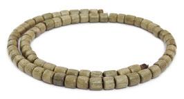 Indisches Silbergrauholz Walzen ca. 5-6x6 mm Holzperlen - Strang