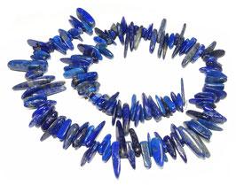 Lapislazuli lange Splitter-Nuggets ca. 10 bis 25 mm - Strang
