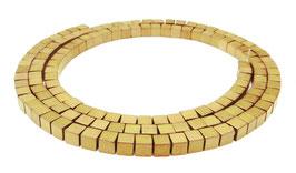 Hämatit Würfel matt gold ca. 3 mm - Strang