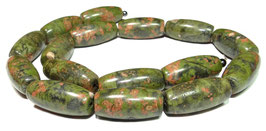 Rhyolith große Oliven ca. 10 x 22 mm - Strang