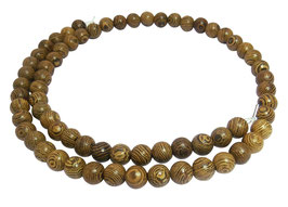 Kibotoholz Kugeln Holzperlen 6,5 mm Holz Perlen Strang