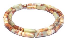 Marmor Röhrchen Walzen  14x5 mm Perlen Strang