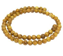Goldenes Sandelholz Kugeln 6 mm - ca. 65 Perlen