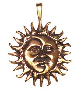 """Sonne-Mond """"Kosmische Einheit"""" Bronze-Anhänger"""