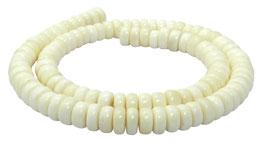 Knochen-Perlen Räder ca. 9 mm - Strang