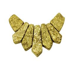 Achat goldfarben galvanisiertes Perlen Set