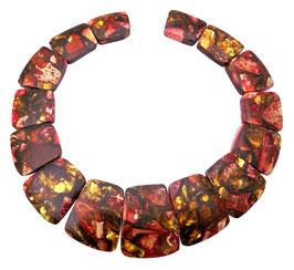 Impressionen Jaspis fuchsia rote Komposition mit Pyrit Perlen Set