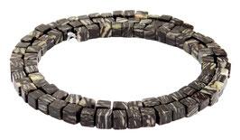 Netzjaspis Würfel ca. 4 mm - Perlen Strang