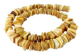 Goldlippen-Auster quadratische Heishi Perlen 7-9mm - Strang