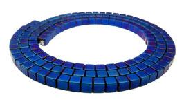 Hämatit mattierte blaue Würfel ca. 3 mm - Strang