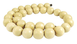 Ambaba-Weißholz Kugeln 15 mm Holzperlen - Strang