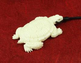 """Schildkröte """"Verbindung mit Mutter Erde"""" Anhänger aus Wasserbüffelknochen ~Handarbeit~"""