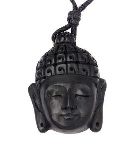 """Buddha Anhänger / Perle aus Wasserbüffelhorn """"Buddhakopf"""" ~Handarbeit~"""